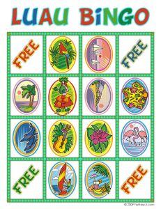 Game: Luau bingo