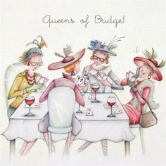 Cards » Queens of Bridge » Queens of Bridge - Berni Parker Designs