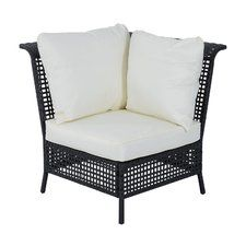 Outsunny Rattan Single Corner Section with Cushion