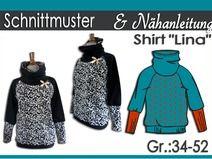 """Schnittmuster & Anleitung Shirt """"Lina"""" Gr:34-52"""