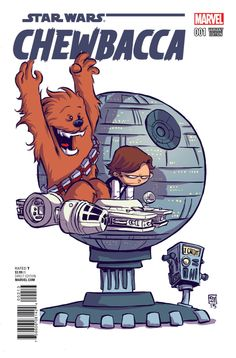 Marvel Star Wars Chewbacca #1 alt cover by Skottie Young