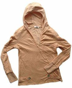Damen Kapuzen Shirt/Freizeit Kapuzen Sweat/Yoga Hoodie für Wellness/Yoga/Fitness im washed Effekt mit süßen Extras wie Perlmutt Knöpfen und eine aufgesetzte Brusttasche. Kuschelsofter & luftig leichter Baumwoll-Jersey, elastische Armbündchen. Farbe Altrosa, Größen S-XL. Made in Italy - Versandkostenfreie Lieferung innerhalb Deutschlands Vexcon, http://www.amazon.de/dp/B00BAIH0WW/ref=cm_sw_r_pi_dp_.OUstb0QGXPVJ