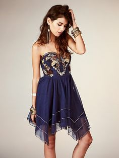 Free People Floral Bodice Mini Dress, $250.00