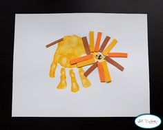 59 hand print and foot print crafts and activities for kids... so cute! I love this lion.