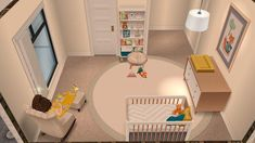 Sims 4 Trs Kinderzimmer - Nursery Room Idea Casa Sims Casas the Sims Freeplay E Sims - Kinderzimmer : Memeio Dekoration Casas The Sims Freeplay, Sims Freeplay Houses, Sims 4 Houses, Baby Room Colors, Baby Room Neutral, Baby Bedroom Furniture, Bedroom Ideas, Disney Baby Rooms, Villas