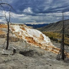 Mammoth Hot Springs Yellowstone National Park Wyoming by travis_cano