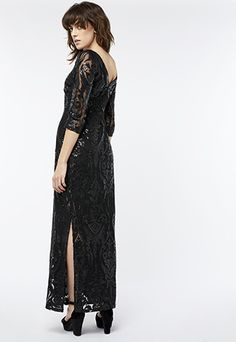 Dress to impress for the party season in our breathtakingly glamorous Selita dress. This decadent maxi is embellished with sequins in a sparkling Baroque-ins...