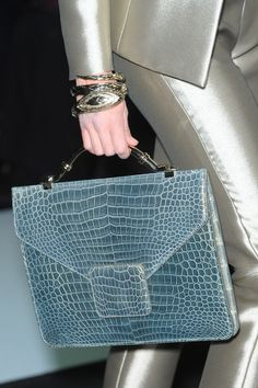 Love the soft blue of this bag