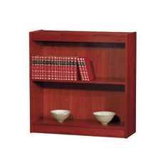 "NORSONS INDUSTRIES LLC Contemporary Series Standard Bookcase Finish: Medium Cherry, Size: 48"" H x 36"" W x 12"" D"