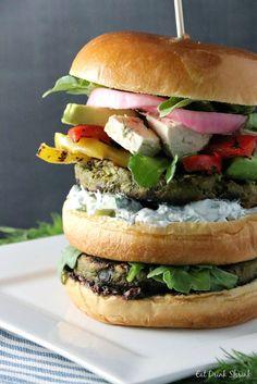 Vegan Mediterranean Burger
