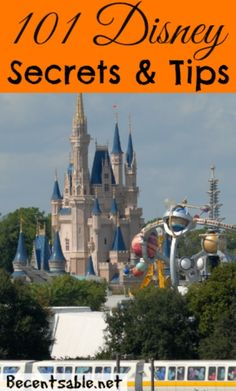 101 Disney secrets and tips for planning your Disney trip, saving money on a Disney Resort, saving time at the theme parks, dining tips and more!