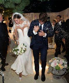 Belen Rodriguez e Stefano De Martino Foto Matrimonio