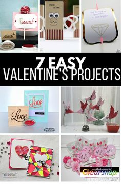 7 Easy Valentine's Projects - ClearSnap Blog