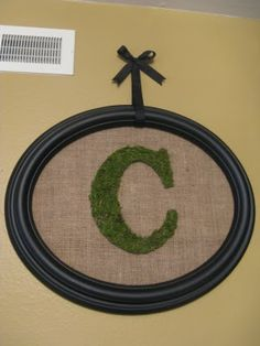 A Diamond in the Stuff: Burlap, Moss, and a Monogram