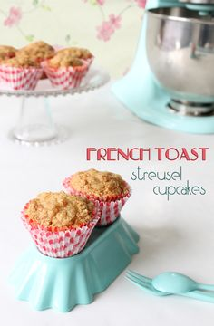 French toast streusel cupcakes