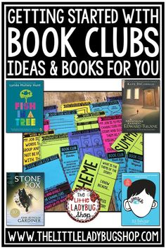 Getting Started with Book Clubs and Literature Circles. Book Ideas, book club activities, and literature circle projects. #bookclubs #literaturecircles #bookclubactivities