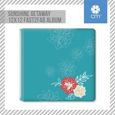 Sunshine Getaway 12x12 Fast2Fab™ album - features pages already beautifully printed and pre-assembled, just waiting for your photos and stories.  Page protectors also included.