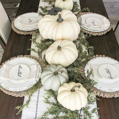 Linen Hemstitch Table Runner Neutral Fall Home Decor :. Linen Hemstitch Table Runner Neutral Fall Home Decor : Dinning Table Inspiration - Life by Leanna decoration Thanksgiving Table Settings, Thanksgiving Tablescapes, Thanksgiving Decorations, Seasonal Decor, Fall Table Decorations, Fall Table Centerpieces, Fall Table Settings, Thanksgiving Treats, Thanksgiving Wedding