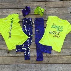 """For our girl moms!  #UnderArmour #GirlsRuleBoysDrool #Top $17.99 4T, 4, 5 UnderArmour #Top $21.99 2T-4, 6 #Purple #Pants $29.99 2T-6 #PolkaDot #Pants $29.99 2T-6 #Bows $7.99 We #ship! Call to order! 903.322.4316 #shopdcs #goshopdcs #love #instashop"" Photo taken by @daviscountrystore on Instagram, pinned via the InstaPin iOS App! http://www.instapinapp.com (09/26/2015)"