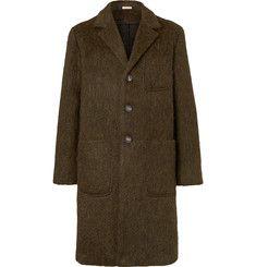 Massimo AlbaMélange Wool, Mohair and Alpaca-Blend Coat