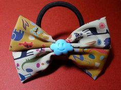 animal ribbon bow ponytail holder for girls 116L