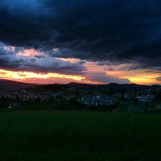 Sunset in Castignano - May 2014