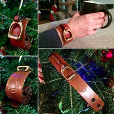 KellysLeatherDesign shared a new photo on Etsy Stirrup Leathers, Brass Texture, Kelly S, Leather Wristbands, The Eighth Day, Leather Pieces, Leather Design, Handmade Items, Iron