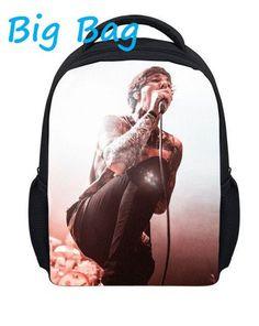 13'' bring me the horizon cartoon school fashion bag 3D backpack