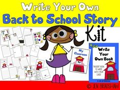WRITE YOUR OWN BACK TO SCHOOL STORY ~ This is the perfect writing activity for the beginning of the school year!  They will enjoy writing and using the clipart for characters, setting, and fun props!  We want to get them excited about all the learning that is about to be coming their way :) The BACK TO SCHOOL booklet comes in the format of PDF and it is printed like a half page booklet with the pages folded in half.