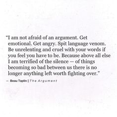 Beau Taplin | The Argument