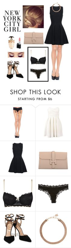 """I am gonna make you feel it"" by firebreatherr ❤ liked on Polyvore featuring Leg Avenue, MAC Cosmetics, TFNC, Proenza Schouler, Hermès, Heidi Klum Intimates, Calvin Klein Underwear, Sergio Rossi, BCBGMAXAZRIA and Prada"