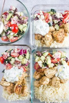 Greek Chicken Bowls (low-carb, keto, primal)