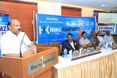Musthafa TV (Chief Guest) at Launch of Homz Komforts, Kerala's E-Commerce Marketplace Addressing Speakers, Guests, Associates and HK Team