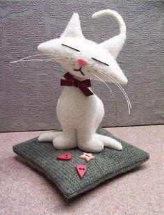 Como fazer lindo gato de feltro com molde | Uma Casa Igual A Sua
