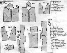 Commercial Pattern Archive - 1933 Description: LAYETTE Size: INFANT