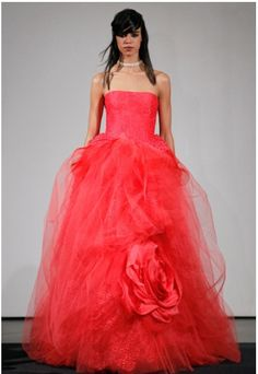 Red gown by vera wang