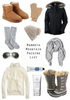 Brian and I are heading to Mammoth Mountain skiing for the long weekend and I wanted to break down what's coming with me and my cold weather essentials. Mammoth Mountain, Weekend Getaway Outfits, Vacation Outfits, Winter Travel Outfit, Fall Winter Outfits, Ski Trip Outfit Woman, Winter Gear, Summer Outfits, Look Fashion