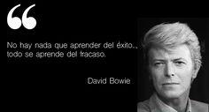 No hay nada que aprender del éxito.., todo se aprende del fracaso. - David Bowie