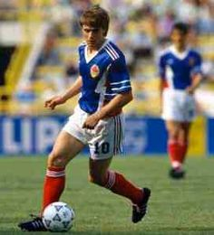 Dragan Stojkovic of Yugoslavia in action at the 1990 World Cup Finals.
