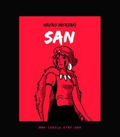 San // Miyazaki and Ghibli Art Print