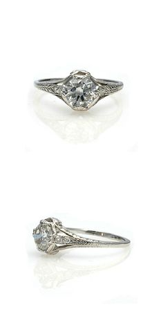 Replica Art Deco Engagement Ring by Leigh Jay Nacht Inc. (http://antiqueengagementrings.com/shopping/shopexd.asp?id=3212)