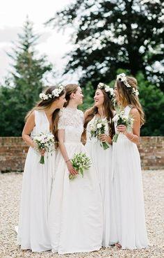 ☆DRESSYWOMEN☆ @ioLA ☆ White Bridesmaid Dresses,Chiffon Bridesmaid Dresses,Bridesmaid Dresses 2017