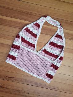 Tre Colori Crochet Halter Neck Top Pattern | Crochet pattern