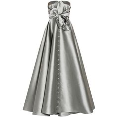 Alexis Mabille Bustier Shirt Gown ($4,349) ❤ liked on Polyvore featuring dresses, gowns, gown, white ball gowns, white embellished dress, long shirt dress, long white shirt dress and white evening dresses