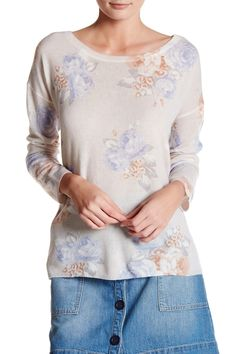Jenka Floral Cashmere Pullover Sweater
