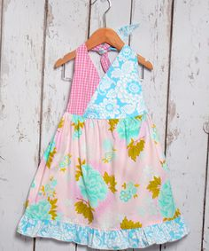 This Aqua Roses Halter Dress - Toddler & Girls by Beary Basics is perfect! #zulilyfinds