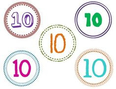 Snack mat templates for the 100th Day of School