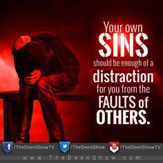 Your sins should be enough....
