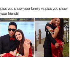 Family vs friends pictures