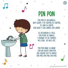 canción infantil Baby Shower Songs, Baby Songs, Kids Songs, Shower Games, Preschool Songs, Toddler Learning Activities, Teaching Kids, Spanish Lessons For Kids, Learning Spanish